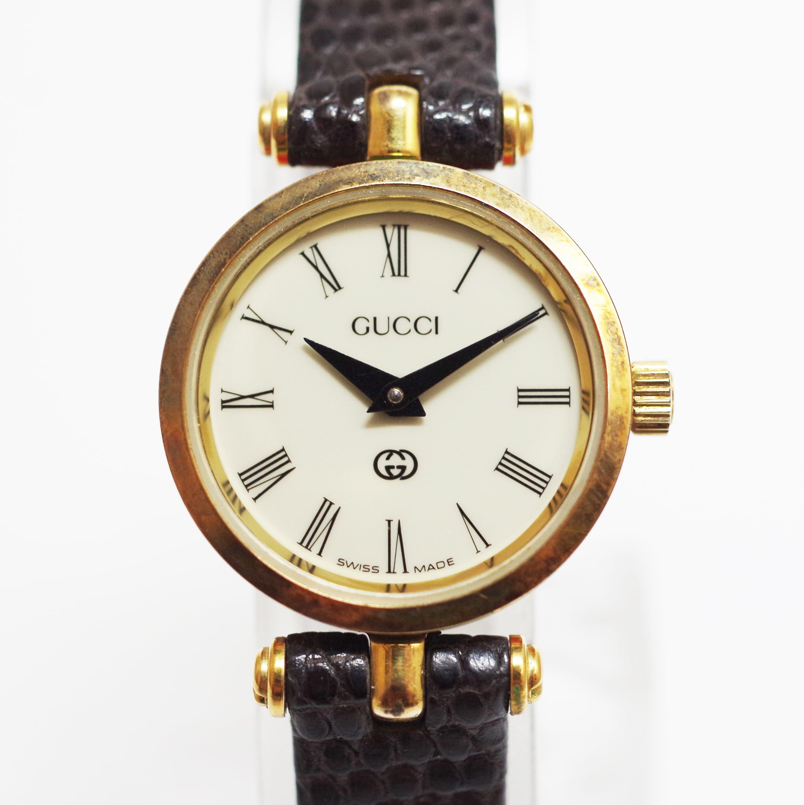 GUCCI グッチ シェリーライン クオーツ ホワイト文字盤 レディース 腕時計
