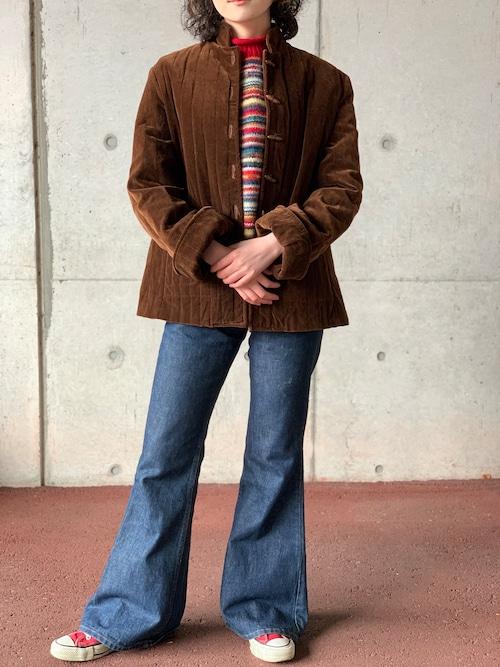 Vintage Quilting Velvet Jacket