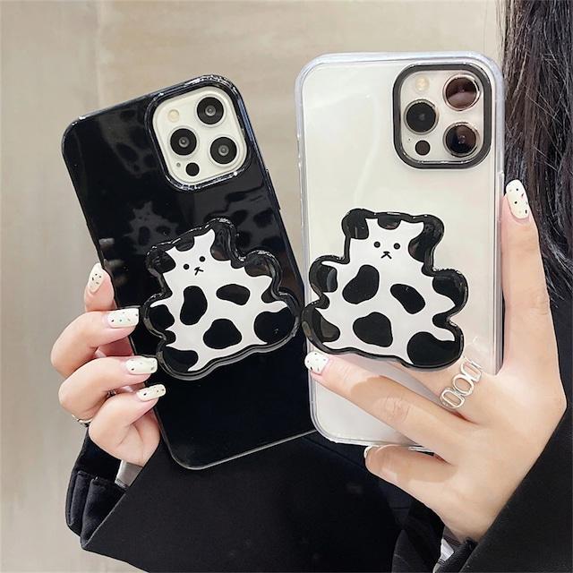 Korean cute bear grip iphone case