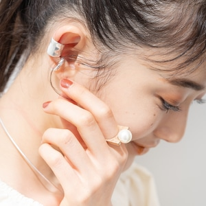 SET ITEMS || 【通常商品】 SQUEAR WITH PEARL RING & EAR CUFF SET || 3 ITEMS || MIX || CRSM0624K