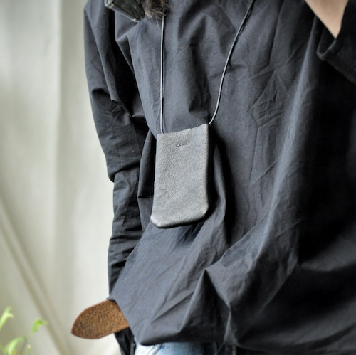 almost white | 革のPASMO&Suicaロングストラップホルダー