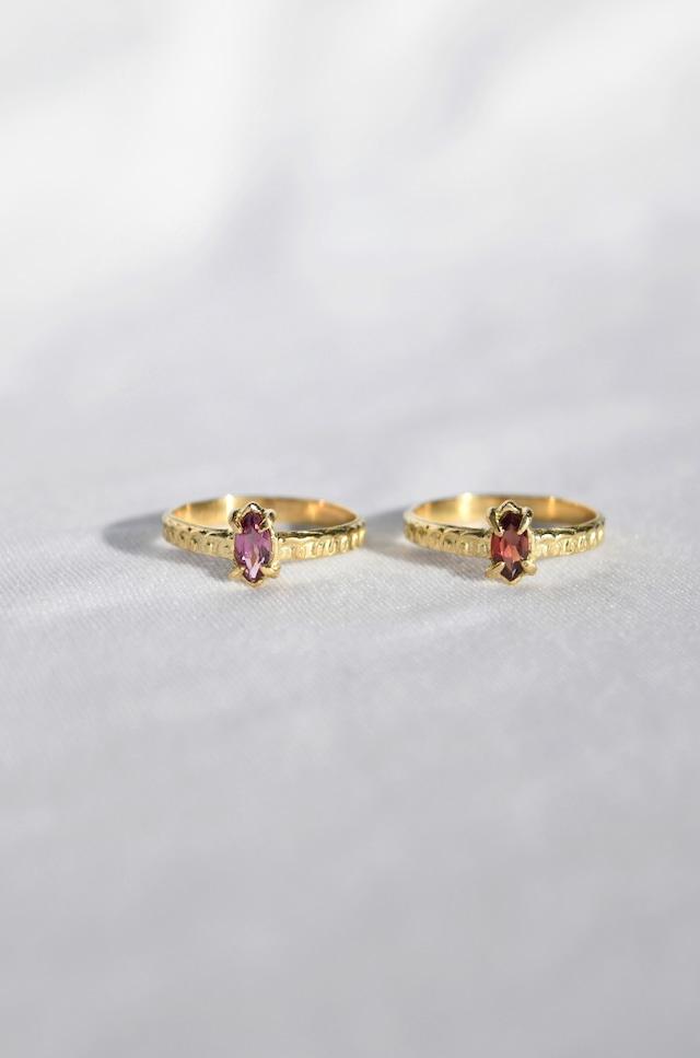 K18 Garnet Oriental Design Ring 18金ガーネットオリエンタルデザインリング