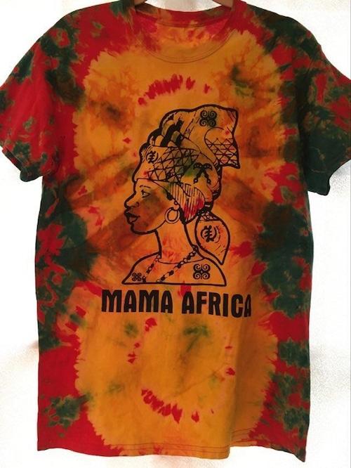 ガーナの手染めTシャツ【M】 MAMA AFRICA-⑥