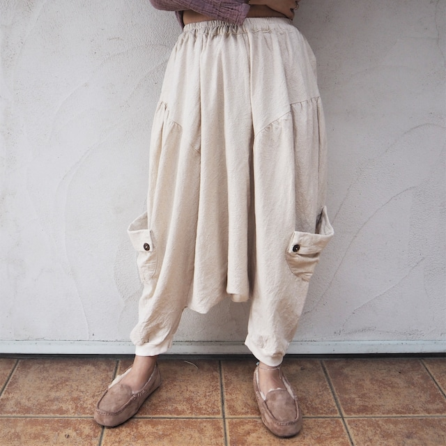 Cotton Sarueru-PT《OWHT/BRN/PNK/OCN》18383022