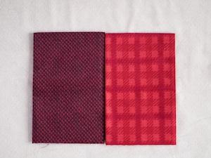 Moda Yuletide Gatherings Flannels レッド系カットクロスセット4