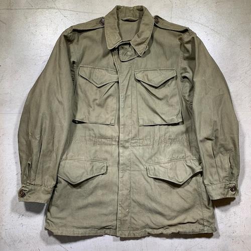 40's U.S.ARMY M-1943 フィールドジャケット オリーブドラブ 34L 希少サイズ WW II 大戦 QM 米軍 実寸M~L 希少 ヴィンテージ BA-1603 RM2022H