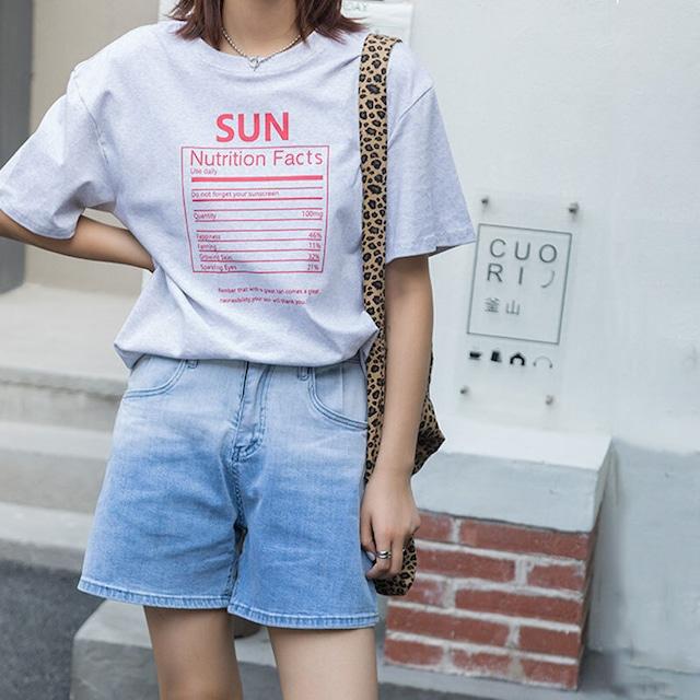SUN TEE | Tシャツ ロゴ ストリート ゆったり