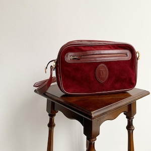 Cartier スウェードショルダーバッグ