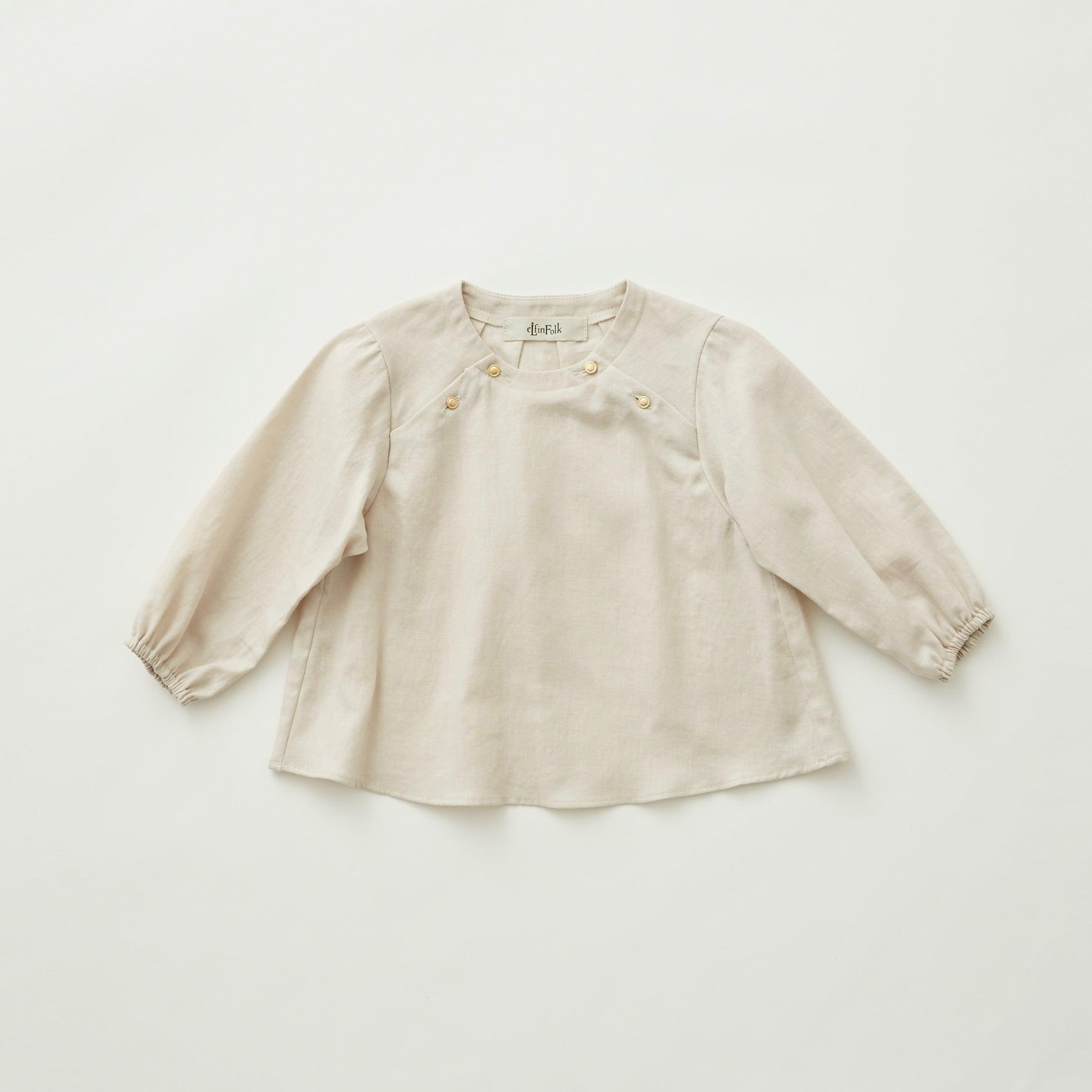 《eLfinFolk 2021AW》C/L washer  baby blouse / light beige / 80-100cm