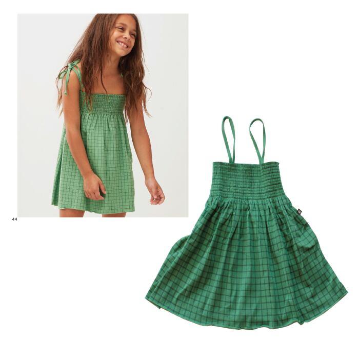 Oeuf smock dress / green (4Y)