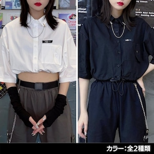 ショート丈五分袖Yシャツ(全2色) / HWG282