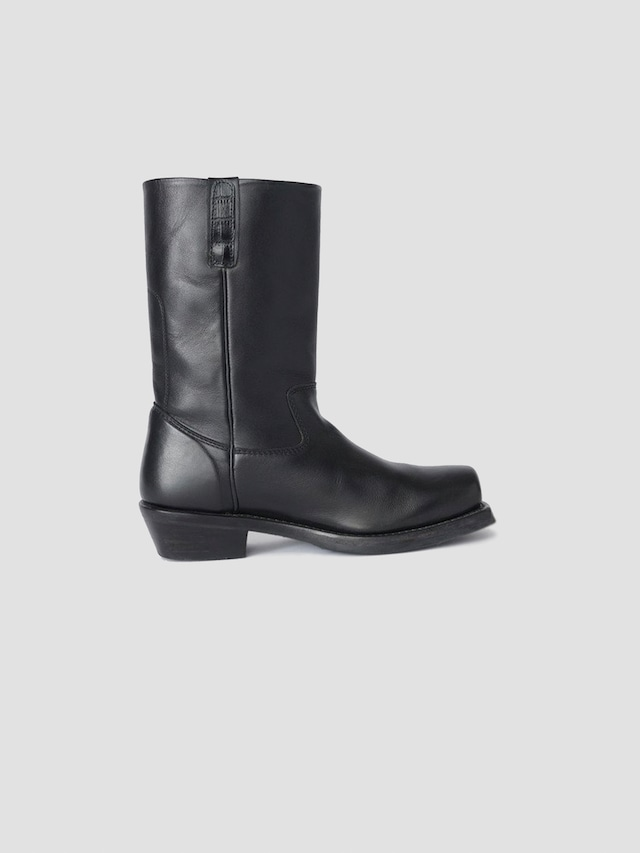 OUR LEGACY FLAT TOE BOOT BLACK LEATHER A4207FB
