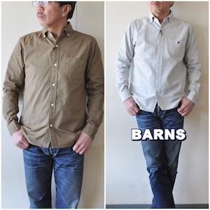 BARNS バーンズ  長袖シャツ ボタンダウンシャツ  VINTAGE仕様   BR4965N