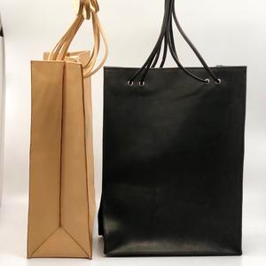 leather totebag/BLK,BEI/l.o.b19-1L3K05【即納】