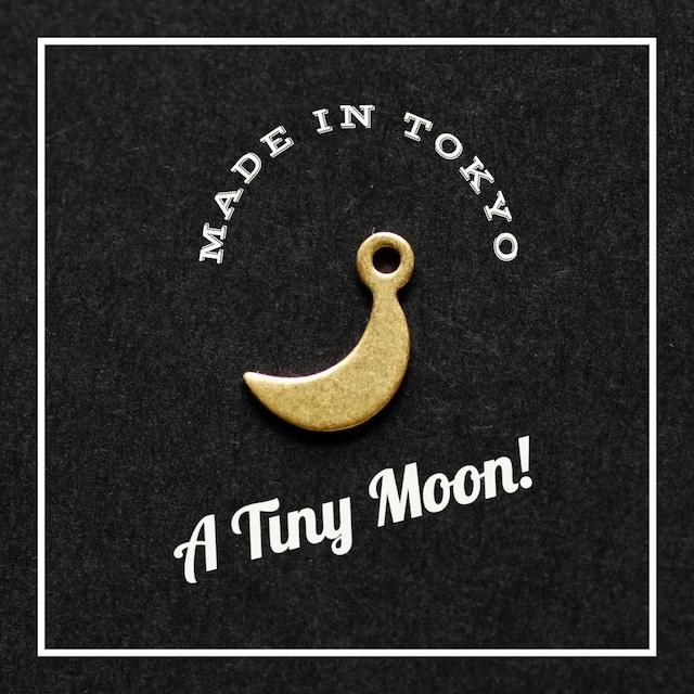 【2個】日本製 三日月【9mm】プレーン(真鍮、無垢)