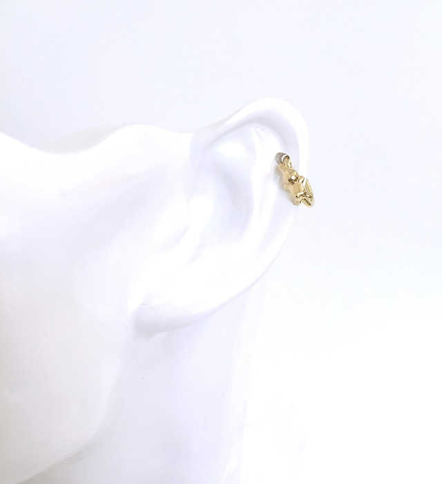 RABBIT CHARMのsnap RING body jewelry ® K18YG #0005 うさぎリングボディピアス/18金イエローゴールド