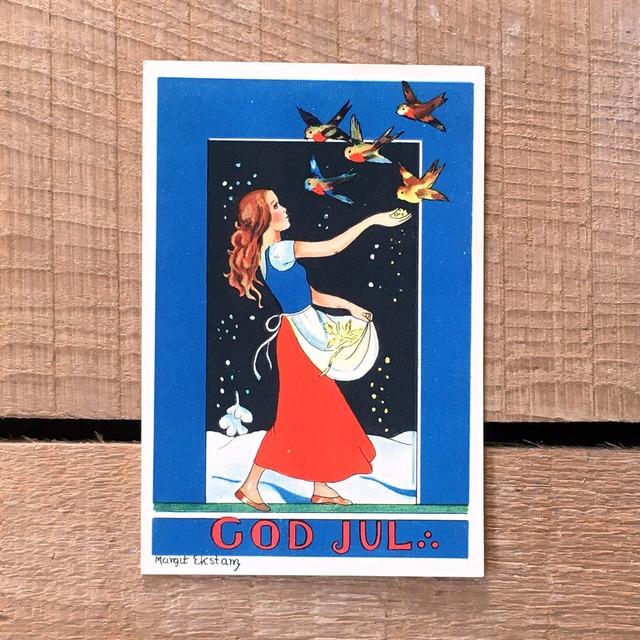 ミニ・クリスマスカード「Margit Ekstam(マルギット・エークスタム)」《200324-09》