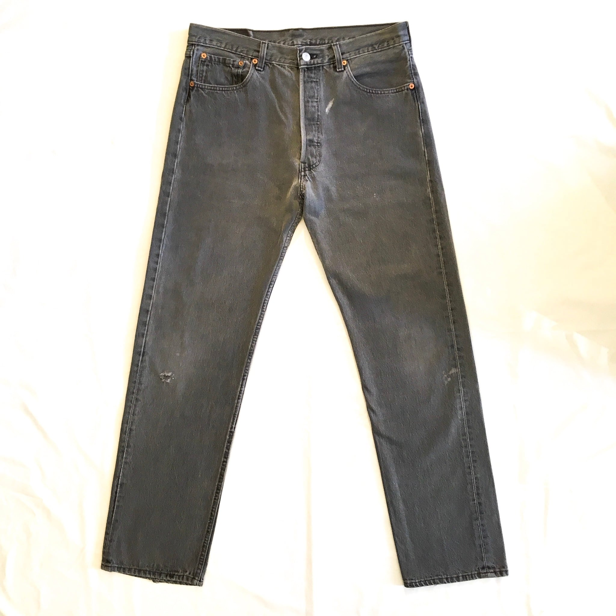 """90's Levi's 501 BLACK  W34 """"MADE IN USA"""" <Used>"""