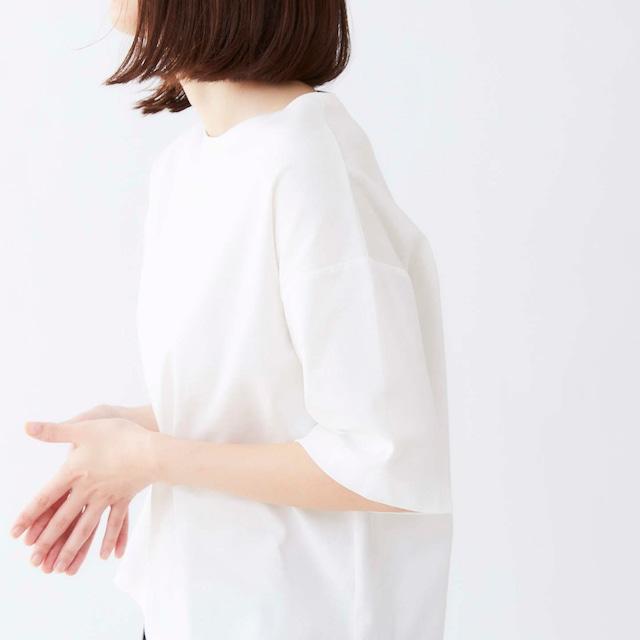French Bull par Cion 【フレンチブル】コットンハーフスリーブTシャツ ホワイト/ブラック 04201