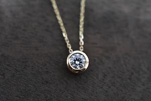一粒 ダイヤモンドネックレス / 0.213ct / E / VVS2 / 3EX H&C / K18YG