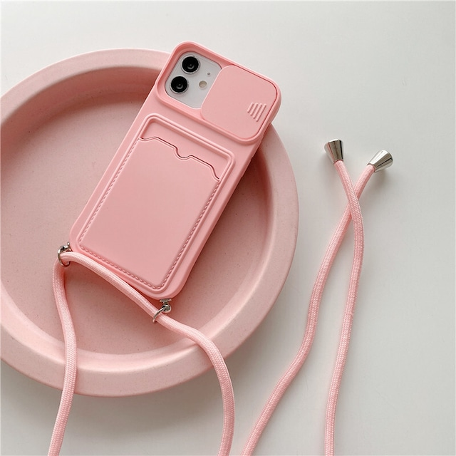Colorful cardholder strap iPhone case