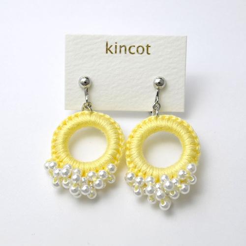 kincot リングパールイヤリング(イエロー)
