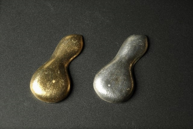 金銀瓢箪ペア箸置 清水焼