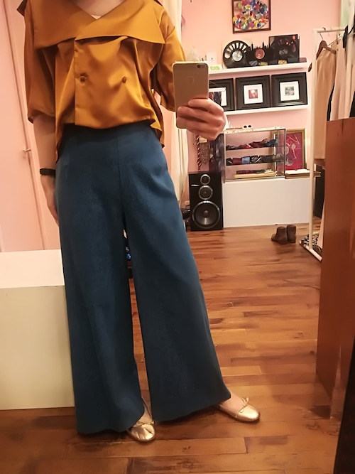 Denim wide leg pants サイズM