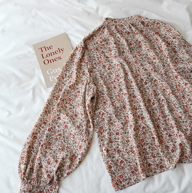 Nocollar flower shirt KRE784