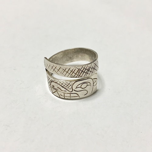 First Nations Engraved Silver Ring ③
