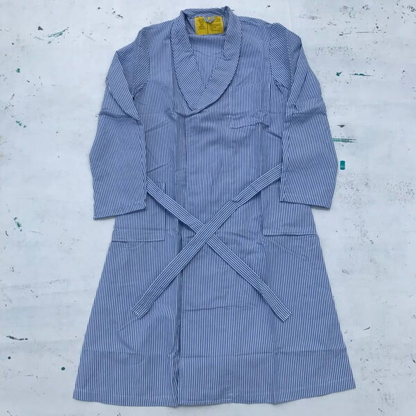 80's U.S.MEDICAL ROBE DRESSING STRIPED SEERSUCKER シアサッカーコート DLA120-87-C-4118 デッドストック NOS 米軍 MEDIUM 希少 ヴィンテージ