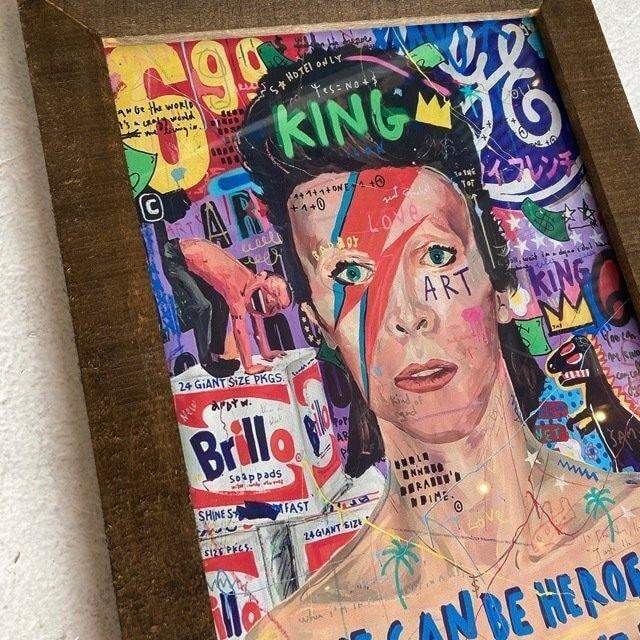 ポップアートポスターフレーム付き KING